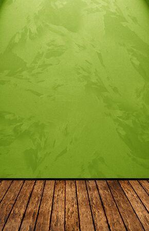 estuco: Sala de la vendimia con el muro verde Foto de archivo