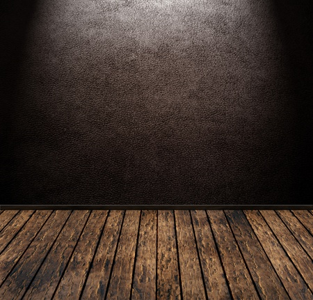 leather background: brown vintage leather grunge room