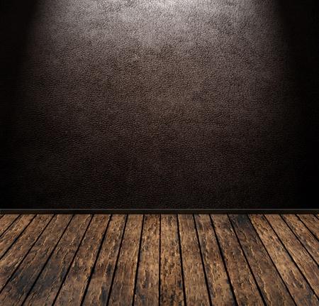 peau cuir: vintage brun chambre grunge en cuir