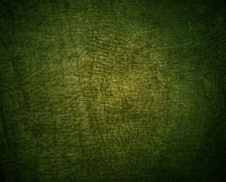 old leather: Natural qualitative green leather texture. Close up. Stock Photo