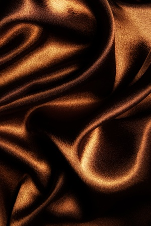 abstract fabric wavy brown silk Stock Photo