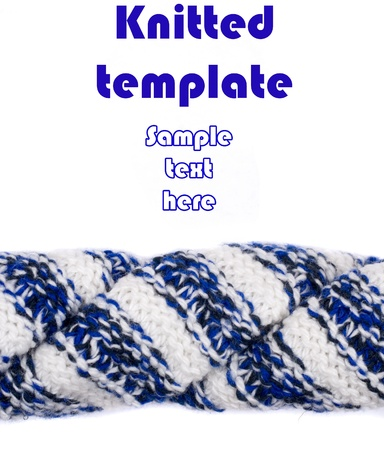 jacquard: creative knitted template on white
