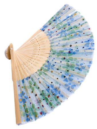open fan: China hand fan isolated on white