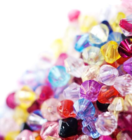 bead embroidery: Colorful glass beads background  texture