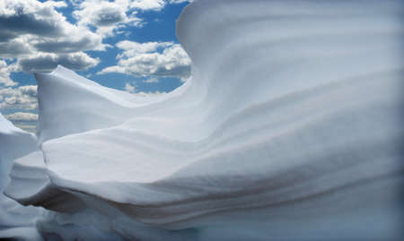mountains covered with fresh powder snow photo