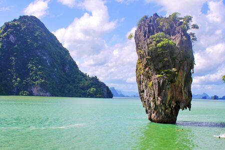 Thailand  A province Phang Nga, more than 40 islands unusual form, near Phuket  On film  James Bond and Golden Gun  from this rock got out solar battery, for a feed a solar gun  photo