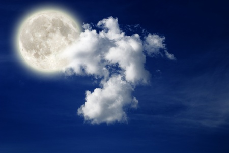 nightly sky with large Lunar  photo