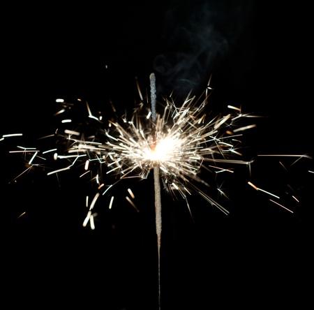 sparkler on black background Stock Photo