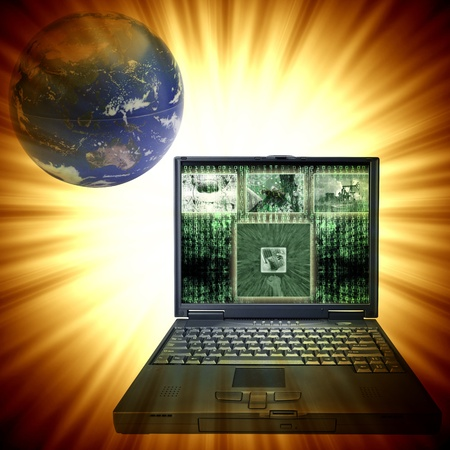 world security: Abstract Internet Background for you project Stock Photo