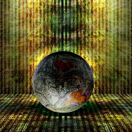 planet futuristic: Abstract Internet Background for you project Stock Photo