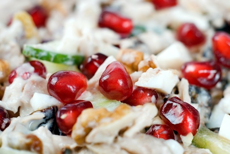 chicken salad with bean pomegranate photo