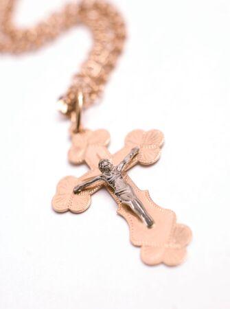 Cross isolated on white background  photo