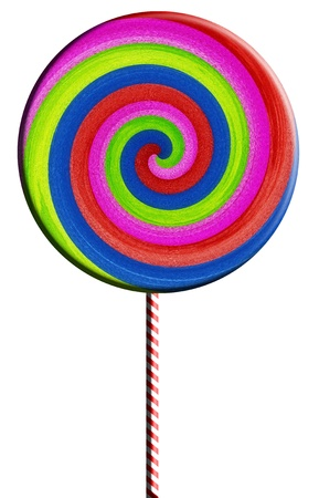 Colorful lollipop isolated on white background  photo