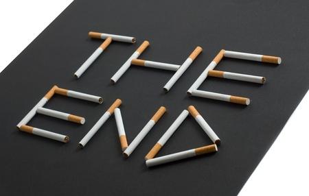anti tobacco: conceptual picture of death smoker