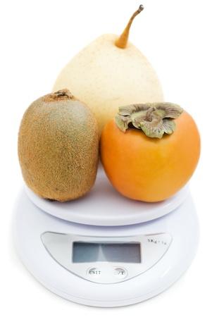 fruit on sale isolated on white photo