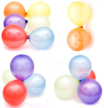 flotation: set color balloons isolated on white