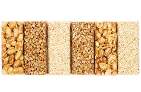 gozinaki: Honey bars with peanuts, sesame and sunflower seeds  Stock Photo