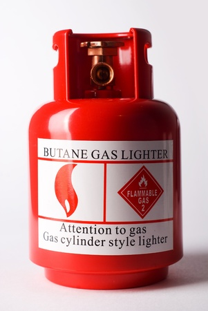 gas cylinder: Gas propane fuel bulb isolated over white