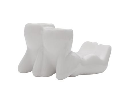ceramic couple lying isolated on white Stock Photo - 13444975
