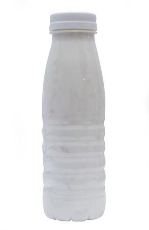 close up of bottle on white  photo
