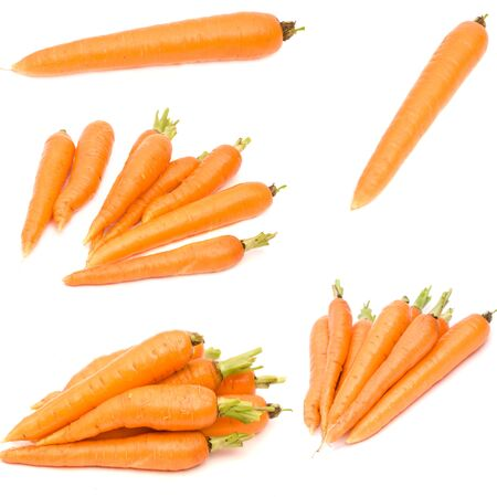 set fresh carrot isolated on white background  photo