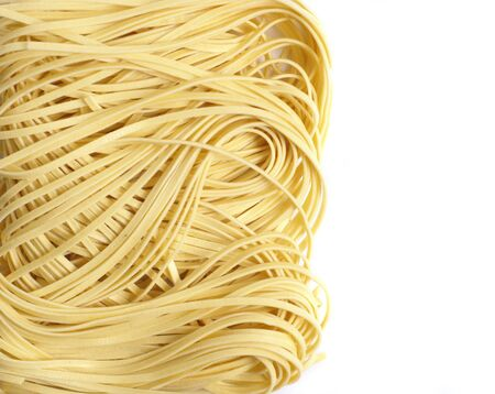 vermicelli: freash vermicelli isolated on white  Stock Photo