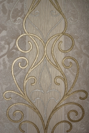 vintage golden floral of wallpaper