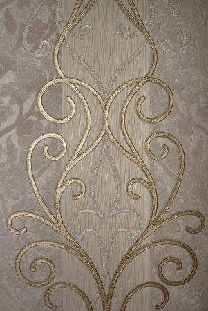 antiek behang: vintage gouden bloemen van behang
