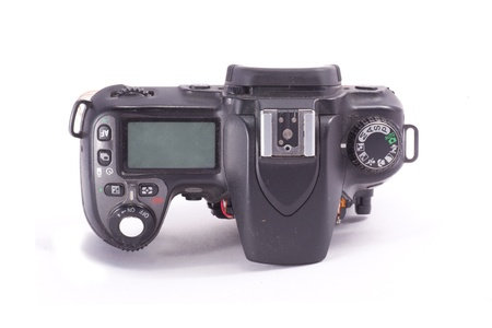 Broken and disassembled DSLR photocamera isolated on white Stock Photo - 16332683
