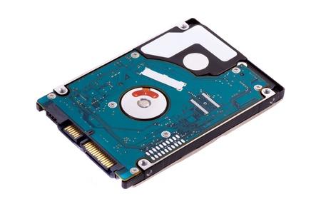 disco duro: Disco duro portátil aislados en fondo blanco