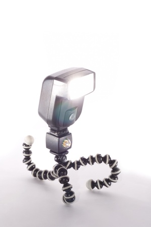 Camera flash isolated on white background  Stock Photo - 16332754