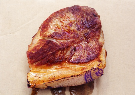 charbroiled: beefsteak Stock Photo