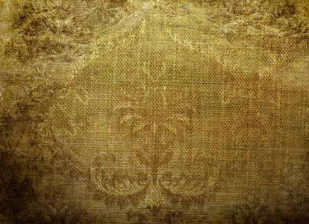 fabrick: vintage golden floral of background