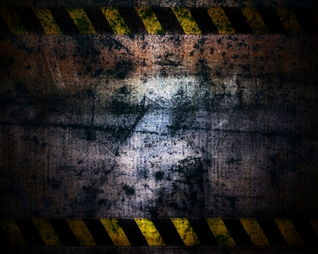 hazardous materials: grunge dark of metal rusted texture