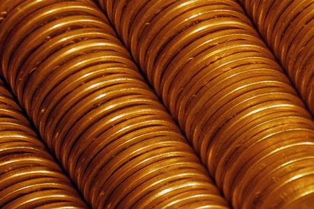 texture of column golden coins photo