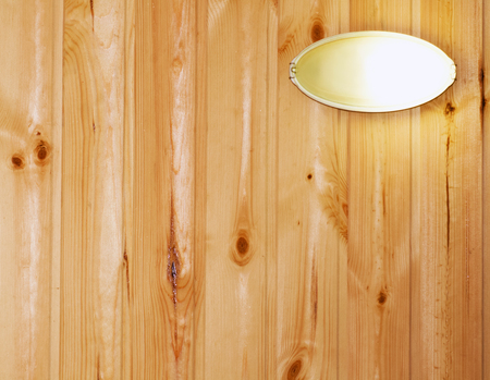 wooden plank wall with lamp Stock Photo - 24538700