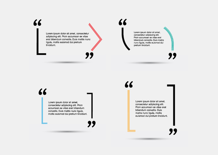 citation: Quote blank template. Empty quote bubble. Quote form. Quote citation blank template.