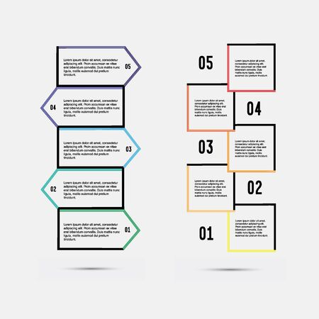 succession: Step by step vector design. Step by step template. Step by step quote icon. Quote citation blank template. Illustration