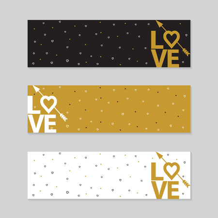 14 of february: Happy valentines day cards with arrow. typography elements. Valentines day set. I love you vector icon. 14 february.