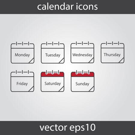 calendar icon: Calendar icon, vector eps10 illustration. Calendar Date. Illustration