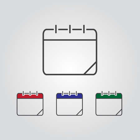 icono de calendario, ilustración vectorial. Fecha de calendario.
