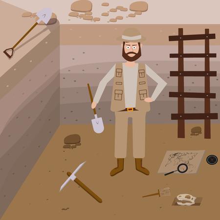 archeology: Archeology vector illustrations. Archeology vector symbols.