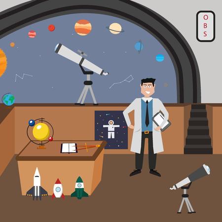 establece la astronomía del vector del icono. Una colección de temática espacial símbolos