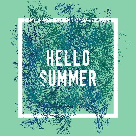 conscious: hello summer square poster. Illustration