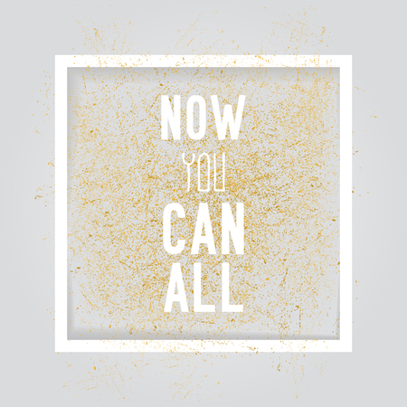Motivation square poster. Text lettering of an inspirational saying. Quote typographical poster