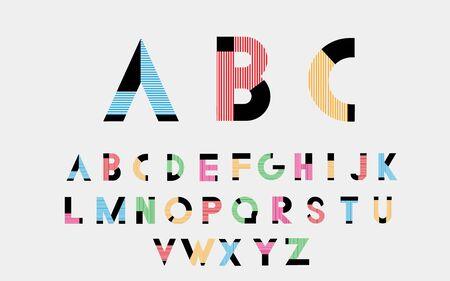 alphabetic: Color alphabetic fonts