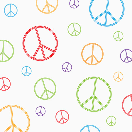 pacificist: Peace symbol on white background.