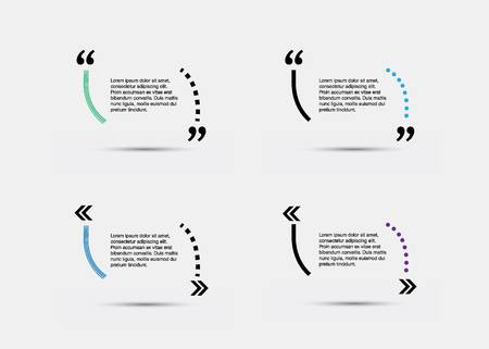 citation: Quote blank template. Empty quote bubble. Quote form. Quote citation blank template. Blank template with print information design quotes. Color quote bubble.