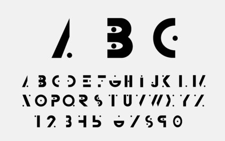 alphabetic: Black alphabetic fonts and numbers.