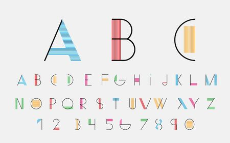 alphabetic: Color alphabetic fonts and numbers.